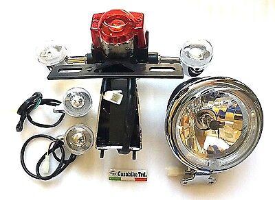 Retro Roller komplett Set LED Beleuchtung Scheinwerfer H4 Rücklicht Blinke ZNEN