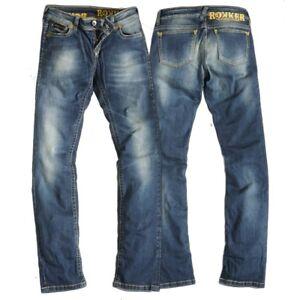 Pantalons-Jeans-Femmes-ROKKER-THE-DIVA-incl-T-Shirt-taille-W28-L32-bleu