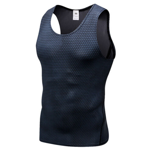 Mens Slimming Body Shaper Tank Vest Gym Chest Belly Waist Compression Base Layer