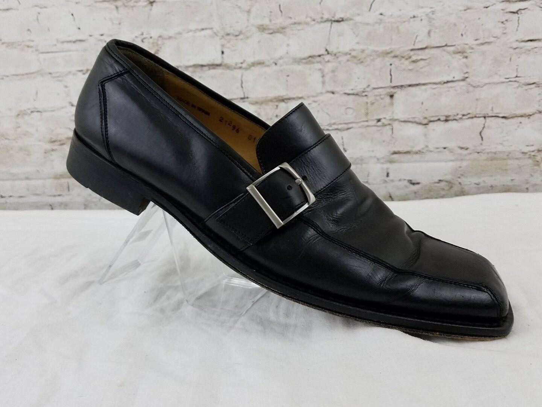 prezzi equi Mezlan Uomo Dimensione 10.5 nero Leather Monk Strap Strap Strap Belted Made In Spain Dress scarpe  fino al 60% di sconto