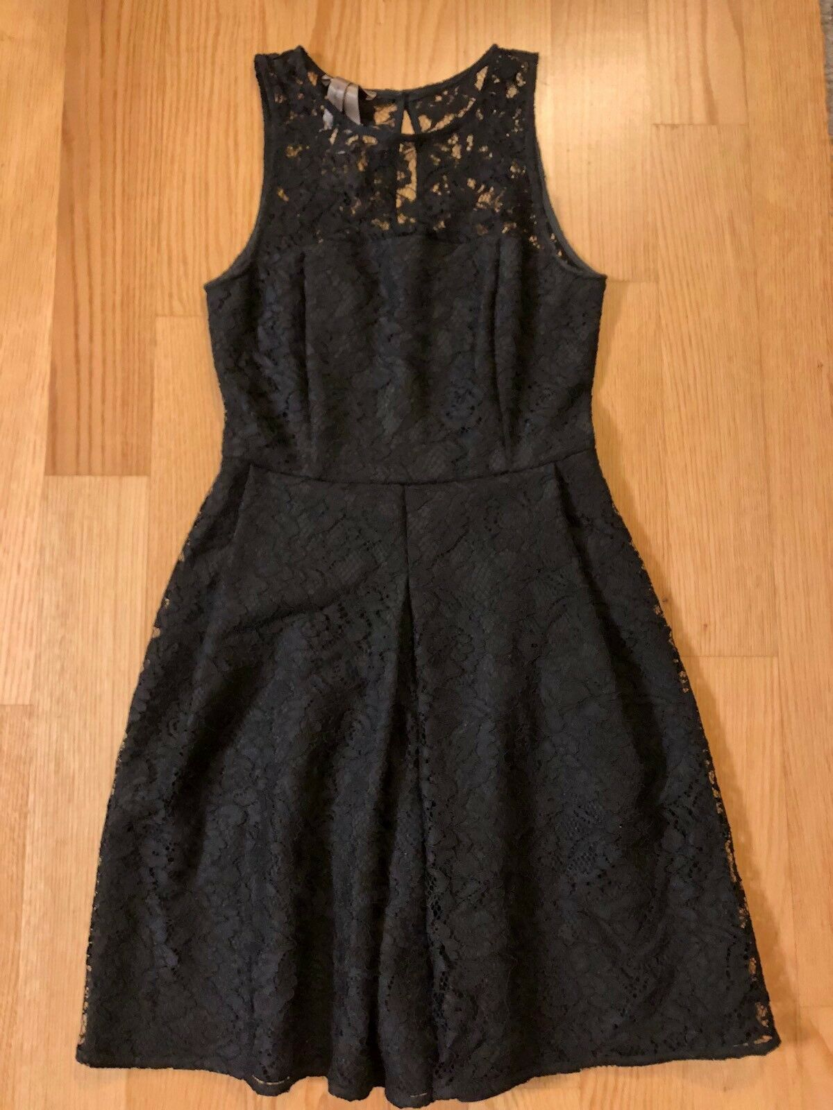 Rosao Toy G Dress schwarz Lace Crochet Cocktail Party 8 44 Sleeveless