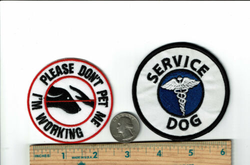 lot of Official Round Service Dog Patches Iron on Embroidered patch 2
