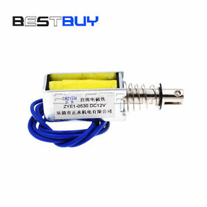 Electronic-Open-Frame-Style-Solenoid-Coil-DC-12V-ZYE1-0530-BBC