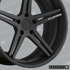 x4 Premium Seat Cupra Logo Vinyl Alloy Wheel Decals - Stickers