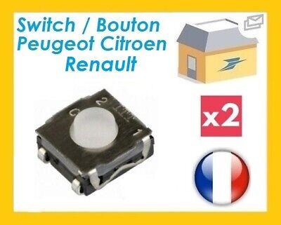 2 Boutons Poussoirs Switch pour Télécommande Coque Plip clé Peugeot Citroen BMW