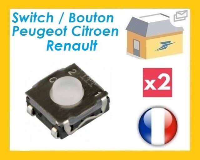 2 Boutons Poussoirs Switch pour Télécommande Coque Plip clé Peugeot Citroen