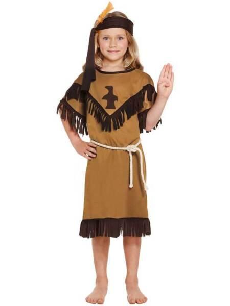 100% De Calidad Chicas Indio Nativo Americano Squaw Nuevo Fancy Dress Costume Childs Niños Libro Semana-ver Menos Costoso