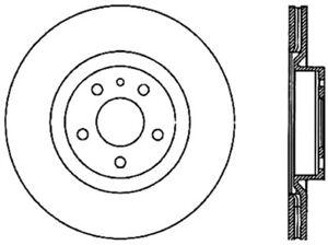Centric Parts Disc Brake Rotor P//N:121.02006