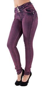 Plus-Junior-Size-Butt-Lift-Levanta-Cola-Skinny-Denim-Women-Jeans
