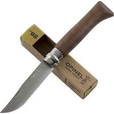 OPINEL no 8 Walnut Handle Pocket Knife & Lock NEW France Safety Ring 00648