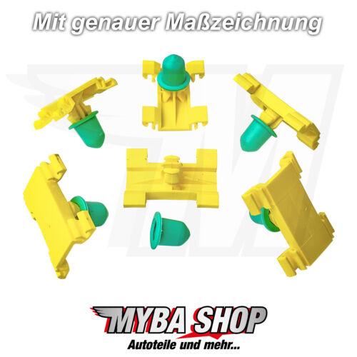 10x ZIERLEISTENKLAMMER MIT TÜLLE FIAT MULTIPLA BEFESTIGUNG CLIPS 71717422