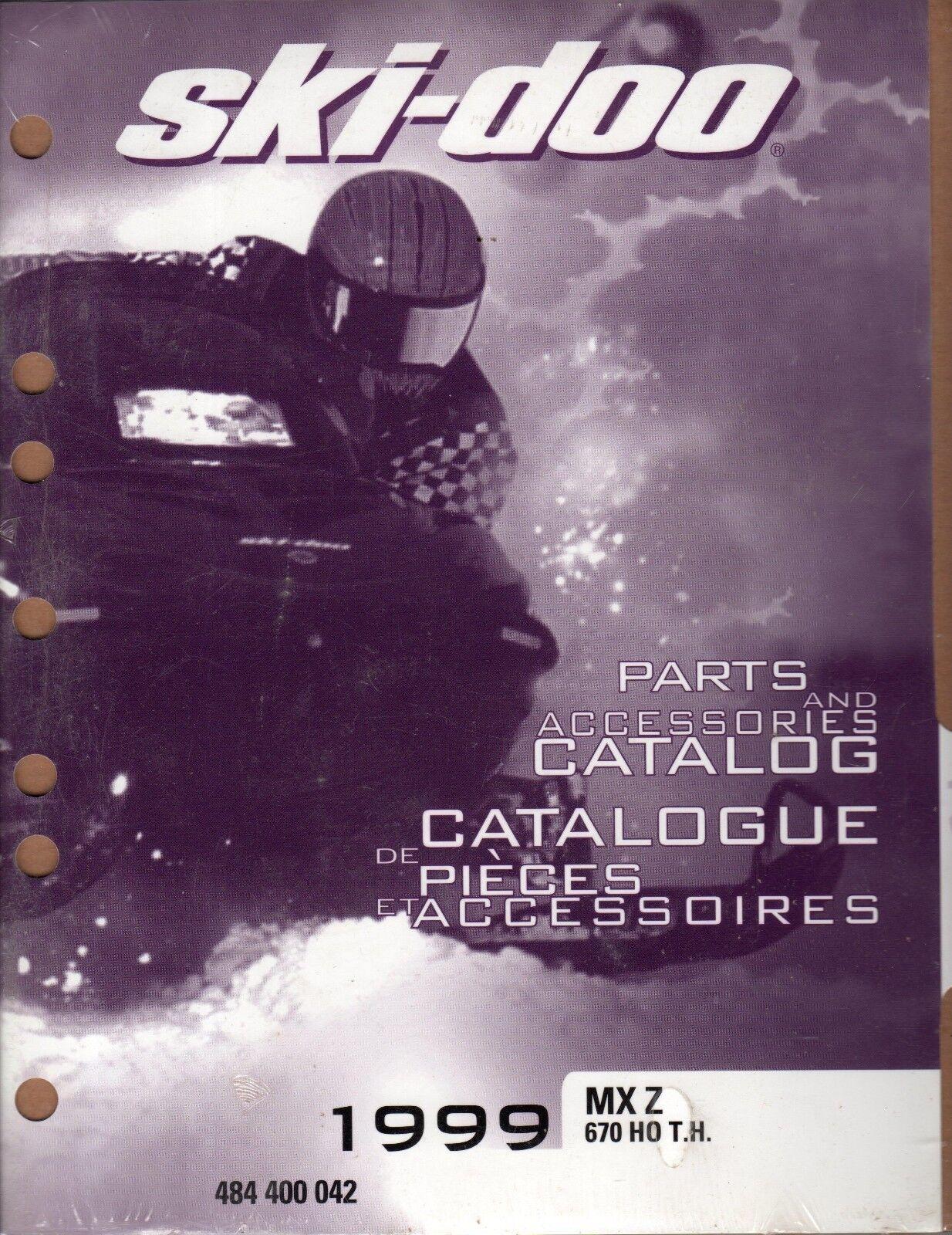 1999 SKI-DOO MX Z 670 HO T.H. SNOWMOBILE PARTS MANUAL P N 484 400 042  (537)