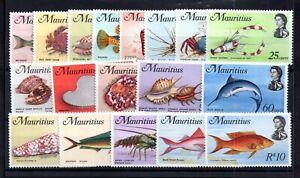 Mauritius-1969-Marine-Life-MNH-set-SG382-399-WS15162
