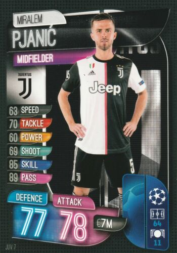 2020 JUVENTUS a choisir CARTE TOPPS CHAMPIONS LEAGUE 2019