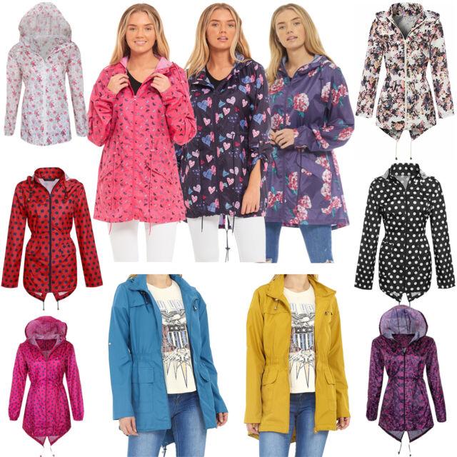 New Girls Hooded Fishtail Mac Light Showerproof Parka Rain Jacket