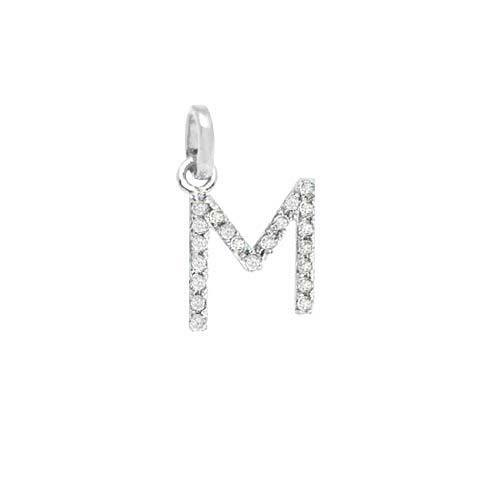 Initial Charm Diamond Charm A to Z Initial Diamond Charm in 14K Gold