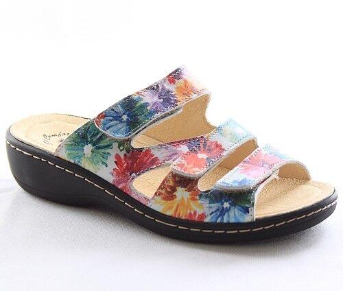 Doc Comfort Sandalen Pantoletten Damen Schuhe Capri Flor 440406
