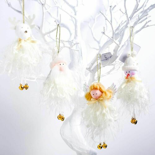 Details about  Tree Ornaments 4pcs Set Mixed Material 4.33*1.98in. Santa Claus Christmas Decors