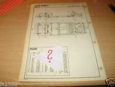 """Maßplan Bodengruppe Alfa Romeo """" Alfa 33 """""""