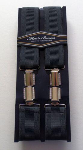 MEN/'S PLAIN BOXED TROUSER  BRACES WIDTH 35MM ONE SIZE VARIOUS COLOURWAYS