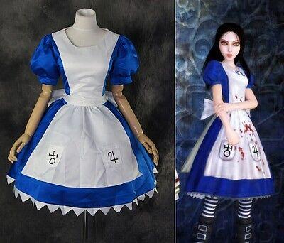 H-170 Alice Madness Returns Classic Kleid dress Cosplay Kostüm costume nach Maß