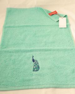 Olivier Desforges ~ parade ~ Peacock serviette ou Wash Mitt Glove BNWT Bleu