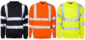 Hi-Viz-Crew-Sudadera-Jersey-DE-LANA-DE-SEGURIDAD-VISIBILIDAD-Trabajo-Seguridad-Superior