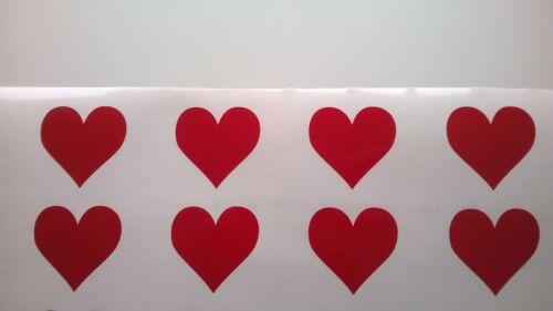 Ventana Pegatinas de vinilo corazón formas pre Espaciadas listo para poner Patio de Cristal de seguridad