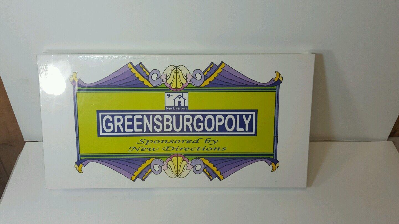 Neu versiegelt Grünsburgopoly monopol brettspiel Grünsburg indiana