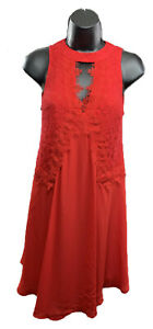 DISNEY-PRINCESS-Snow-White-Size-XS-juniors-red-lace-sleeveless-dress