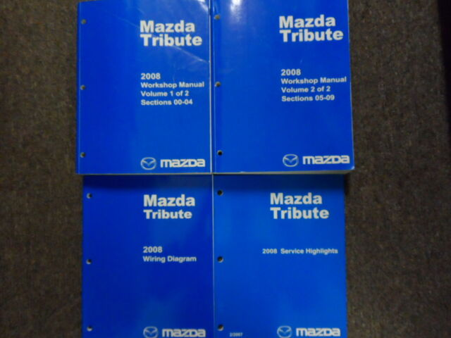 2008 Mazda Tribute Service Repair Workshop Shop Manual Set W Ewd   Highlights