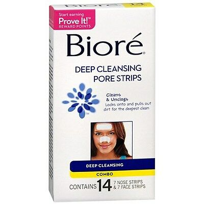 Biore Deep Cleansing Pore Strips Combo Pack, Combo 14 e