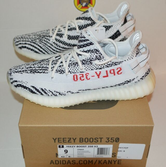 67db71b26 NEW Adidas Yeezy Boost 350 v2 Zebra size 9 100% authentic DS CP9654 Original  Pr