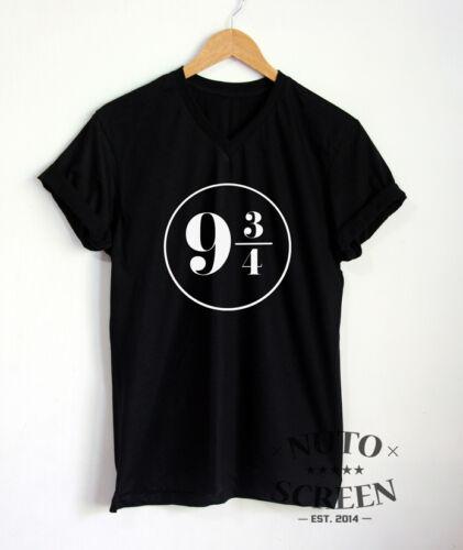 Platform 9 3//4 Shirt Hogwarts Train T-Shirt V-Neck Unisex Movie Fans Gift Tee