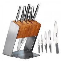 Global Knives Katana Block Set 6 Pc Knives Stainless Steel Cutlery Kitchen