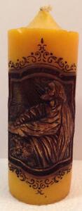 Vintage 1978 Jasco British Hong Kong Beeswax Religious Large Candle