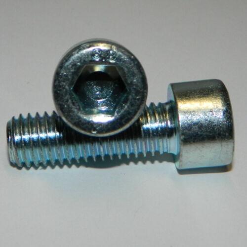100 Stk Zylinderschrauben M8x30 Stahl verzinkt  DIN912  Innensechskant Schraube