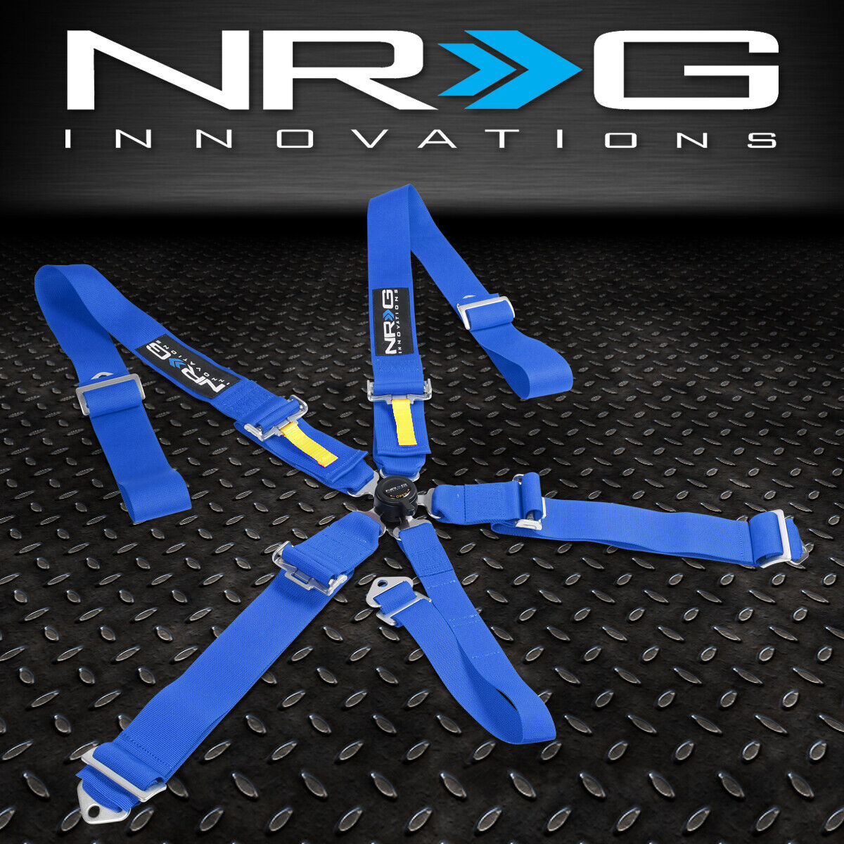 Nylon, Steel NRG Innovations SBH-R6PCRD 5-Point Cam Lock Red SFI Approved 16.1 Racing Harness Seat Belt Replacement