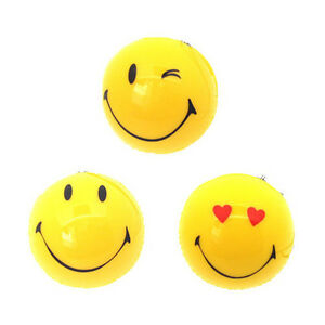3 Pcs Assorted 3d Smiley Face Hanging Air Freshener