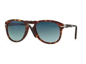 cdc9783f685 Image is loading sunglasses-PERSOL-PO0714-FOLDING-crystal-blue-faded- polarized-