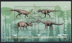 BRD-2008-gestempelt-ESST-MiNr-Block-73-Dinosaurier