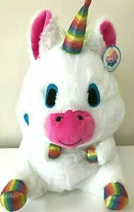 "Christmas Gift Nanco Belly Buddy Fat Unicorn XLarge 15/"" Plush White Soft Toy"