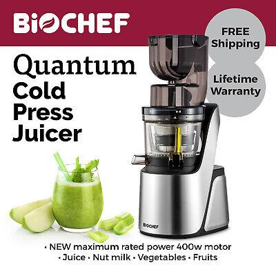 BioChef Quantum Whole Slow Juicer Masticating Best Whole Fruit Vege Silver | eBay