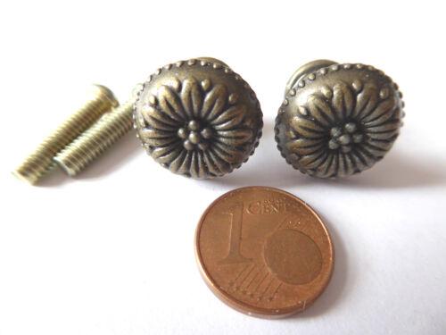 Schrankgriff Griff Möbel Metall mit Schrauben rund Puppenhaus Miniatur 15mm