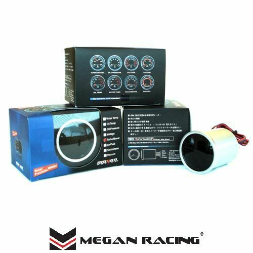 Megan Racing V1 Universal 52mm Black Face LED Water Temp Meter Gauge New