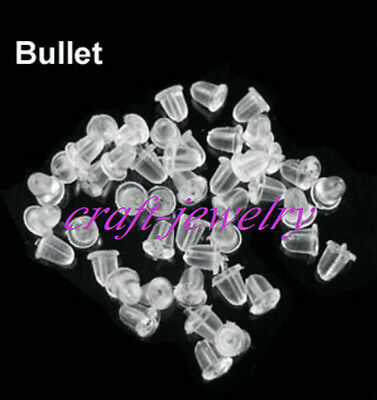 Environmental protection Hypo-Allergenic Rubber Earring Back Stopper 400/1000pcs