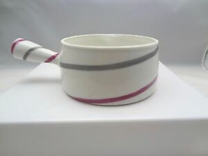 Limoges-Pink-amp-Grey-Striped-Handled-Pouring-Bowl