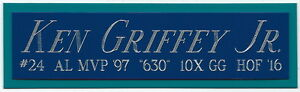 KEN GRIFFEY JR MARINERS NAMEPLATE AUTOGRAPHED Signed BAT-BASEBALL-H<wbr/>ELMET-PHOTO