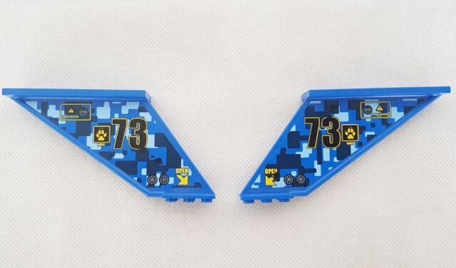 LEGO Blue 12x2x5 Airplane Space Tail Piece