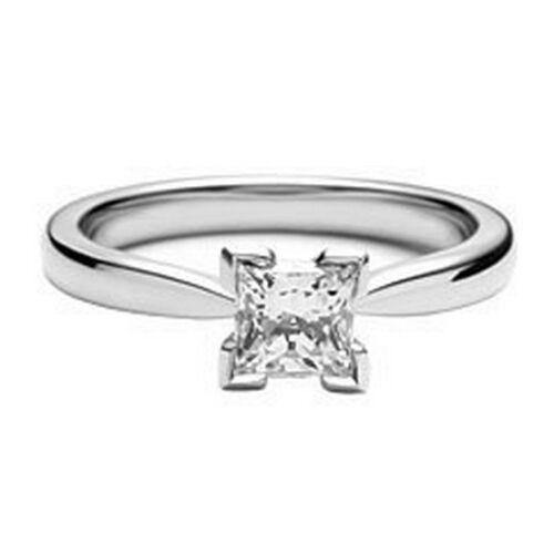 NEW 9ct White Gold 0.25ct Diamond Princess Engagement Ring size L